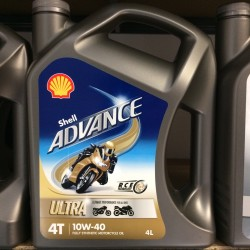 Motorolie Shell ADVANCE ULTRA 4T 10W40 4L.