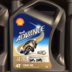 Motorolie Shell ADVANCE ULTRA 4T 15W50 4L.