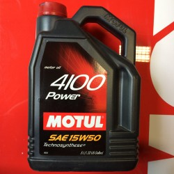 Motorolie MOTUL 4100 Power 15W50 5L.