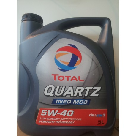 Motorolie Total QUARTZ INEO MC3 5W40 5L.